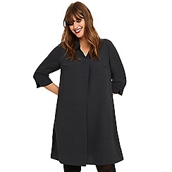 Studio 8 - Sizes 14-26 Charcoal bette shirt swing dress