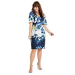 Studio 8 - Sizes 16-26 White multi anise floral dress