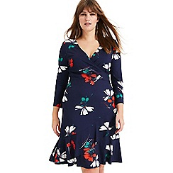 Studio 8 - Sizes 16-26 Navy Multi Paola Floral Printed Dress
