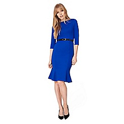 Damsel in a dress - Blue hawthorne belted ponte dress