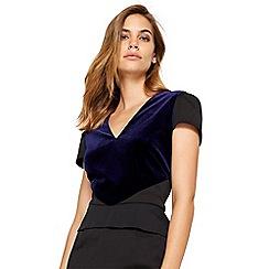 Damsel in a dress - Blue vita velvet mix maxi dress