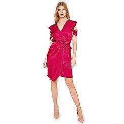 Damsel in a dress - Pink lexi leopard jacquard dress