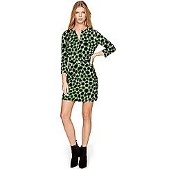 Damsel in a dress - Green olive spot tunic dress