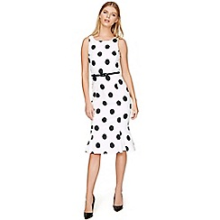 Damsel in a dress - White Lillia spot dress