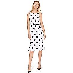 Damsel in a dress - White lillia spot dress