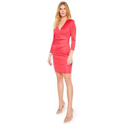 Damsel In A Dress   Cherry Aya Slinky Wrap Dress by Damsel In A Dress