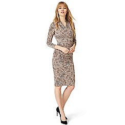 Damsel in a dress - Brown kacey leopard print dress