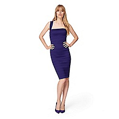 Damsel in a dress - Purple jasmine bandage dress