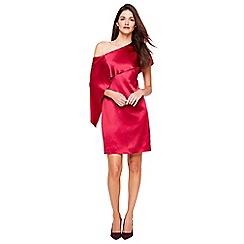 Damsel in a dress - Deep rose lissy asymmetric dress