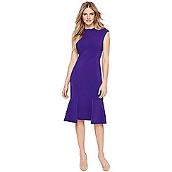 Damsel in a dress - Purple azia fitted dress