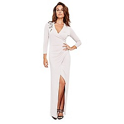 Damsel in a dress - Silver samia slinky jersey maxi dress