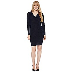 Damsel in a dress - Black and blue dasia shimmer jersey dress