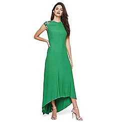 Damsel in a dress - Emerald deniz embellished shoulder maxi dress