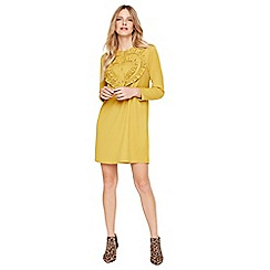 Damsel in a dress - Mustard kiana ruffle tunic dress
