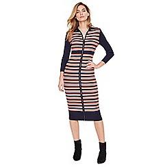 Damsel in a dress - Multi-colored mita stripe rib knitted dress