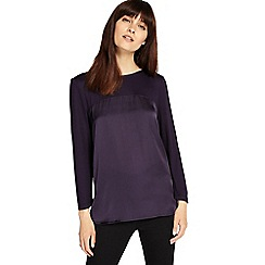 Phase Eight - Deadly Nightshade 3/4 sleeve sally satin top