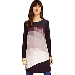 Phase Eight - Deadly nightshade Veronica colour block tunic