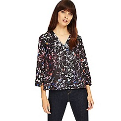 Phase Eight - Multi-coloured midnight garden floral top