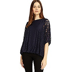 Phase Eight - Navy Sandra spot burnout top
