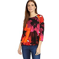 Phase Eight - Multi-coloured fleur floral blouson top