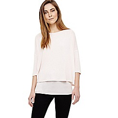 Phase Eight - Cream debbie double layer top