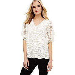 Phase Eight - Cream beth bubble burnout top