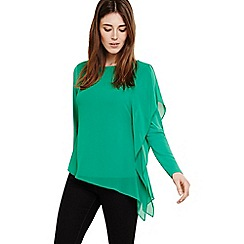 Phase Eight - Green camille chiffon layer top