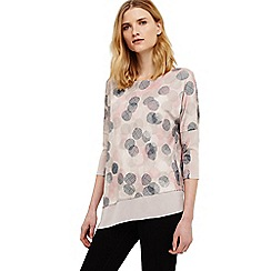 Phase Eight - Cream ediline etched spot print top