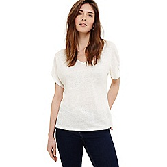 Phase Eight - White val v-neck linen top