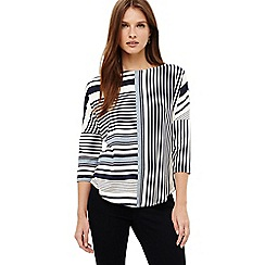 Phase Eight - Blue elanna engineered stripe top