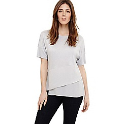 Phase Eight - Grey afra asymmetric hem top