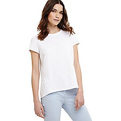 Phase Eight - White peace peplum top