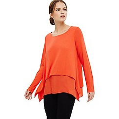 Phase Eight - Orange ciera double layer top
