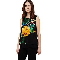 Phase Eight - Black mathilda floral print top