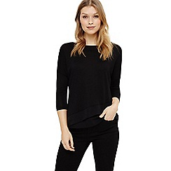 Phase Eight - Black cherie cross hem top