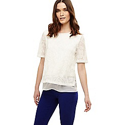 Phase Eight - Cream tam textured double layer top