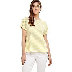 Phase Eight - White latrice linen stripe top