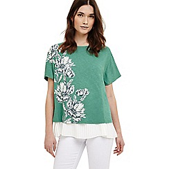 Phase Eight - Green marietta floral print top