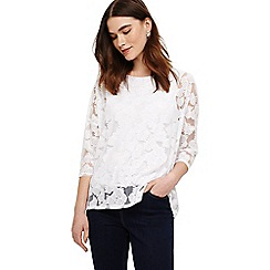 Phase Eight - White barney fan burnout top