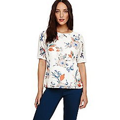 Phase Eight - cream 'Ivana' printed burnout top