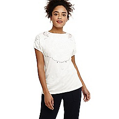 Phase Eight - White pero placement burnout top
