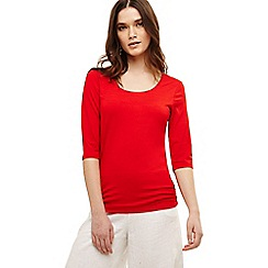 Phase Eight - Red salina scoop neck top