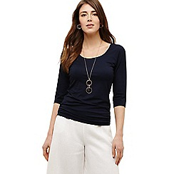 Phase Eight - Blue salina scoop neck top