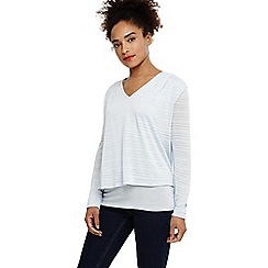 Phase Eight - Blue dee double layer textured top