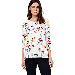 Phase Eight - Cream lacey floral print top