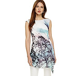 Phase Eight - Multi-coloured 'Quinby' tree scene tunic top