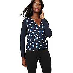 Phase Eight - Blue orly spot print top