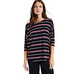 Phase Eight - Blue Sparkle Stripe Catrina Top