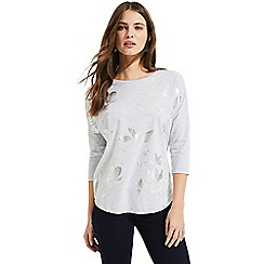 Phase Eight - Grey Fressia foil top 34910a6943