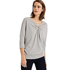 Phase Eight - Grey rossie rib top